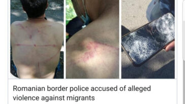 Polițiștii de frontieră din România violenţe refugiaţi