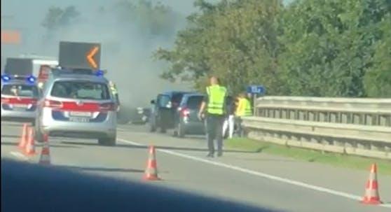 vehicul incendiu